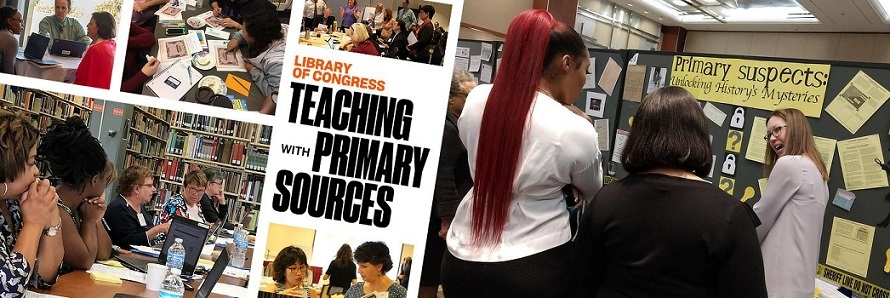 Masthead from Teaching with Primary Sources program website