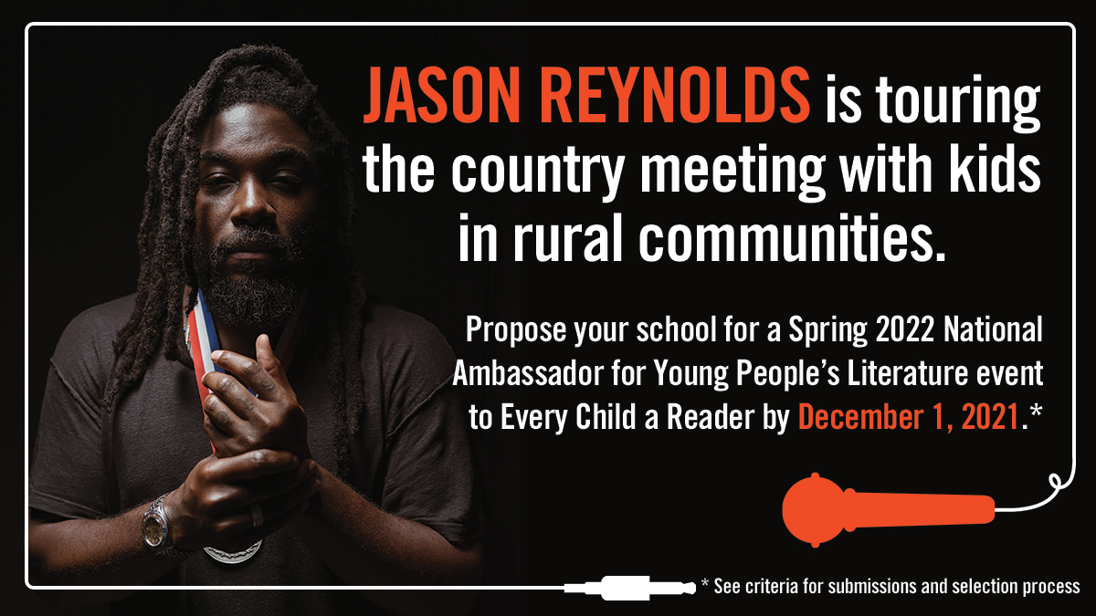 Promo graphic for Jason Reynolds/NAYPL