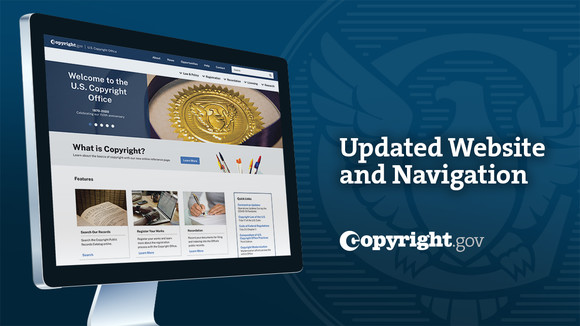 Copyright.gov website on computer screen
