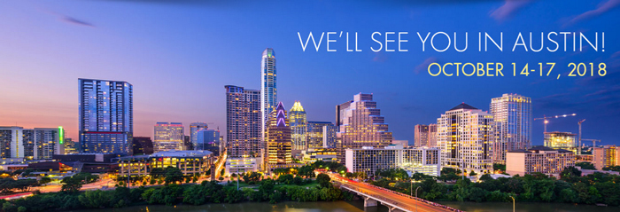 See you in Austin! Oct. 14-17