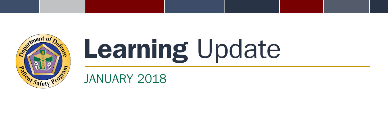 DoD Patient Safety Learning Update January 2018 Banner