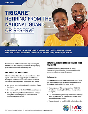 TRICARE Retiring from the National Guard or Reserve Brochure
