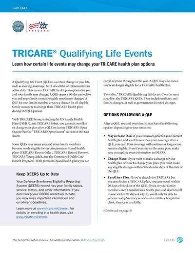 TRICARE QLE Fact Sheet