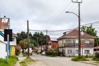 Photo of neighborhood of houses, associated with April 2019 research spotlight article on predicting the health risks of adverse childhood experiences; it's complicated.