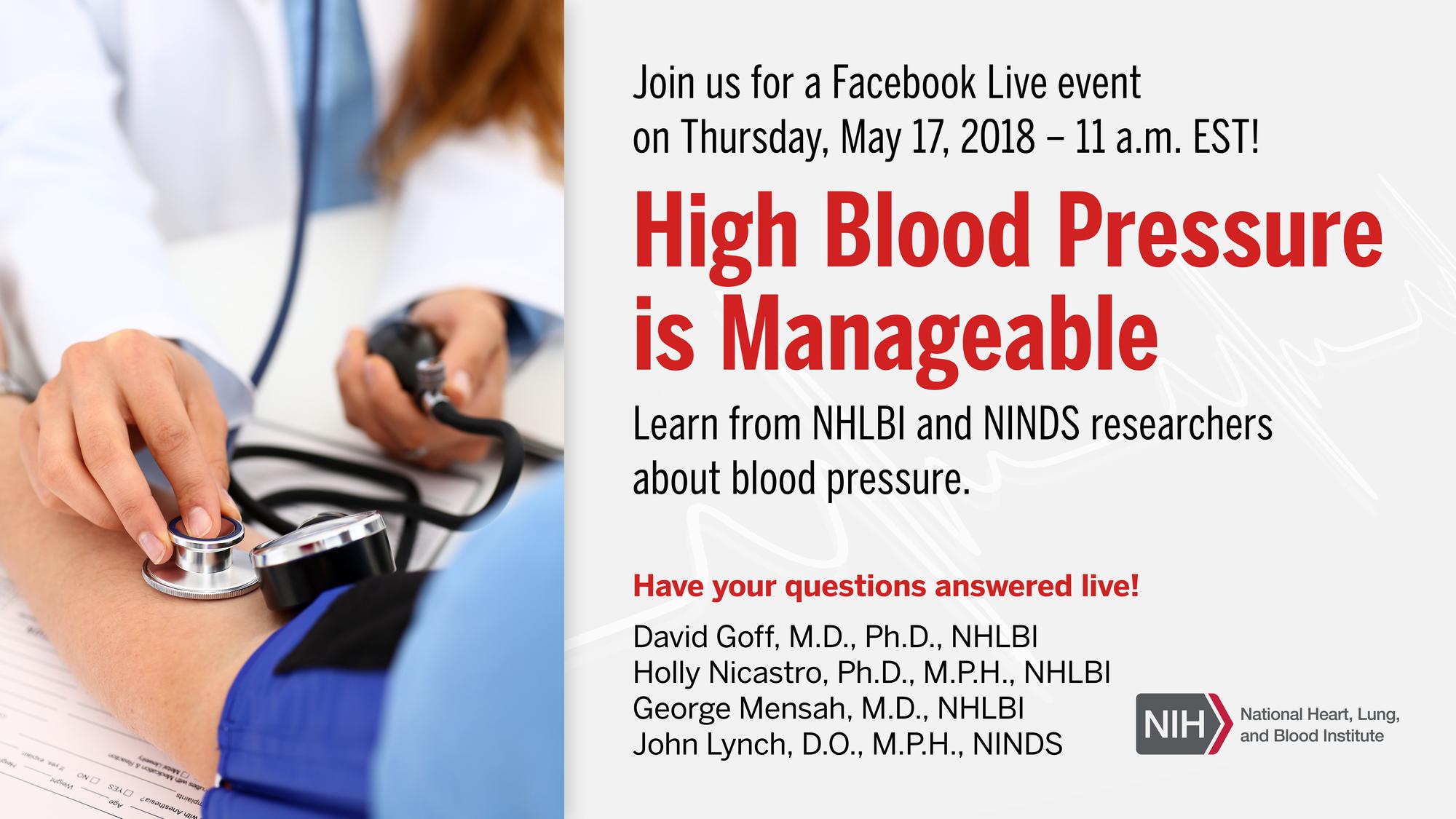 NHLBI World Hypertension Day Facebook Live