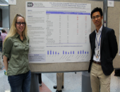 Dr. Lauren Amable and Dr. Kelvin Choi at 2017 NIH Research Festiva