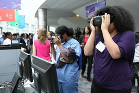 Students at Science Day at NIH