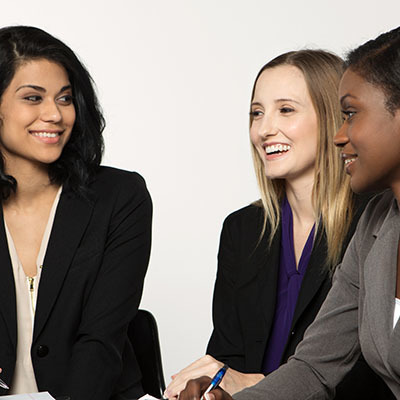 Diverse, young professional women