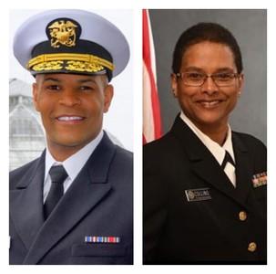 U.S. Surgeon General Adams (left) and CAPT Collins (right)
