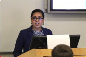 Asmi Panigrahi presenting