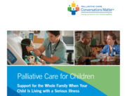 cover of palliative brochure provider with patient