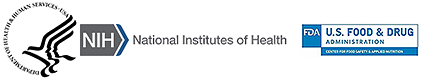 HHS, NIH, and FDA logos