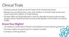SSG DBSA Presentation Slide on Clinical Trials