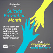 NIMH Suicide Prevention Awareness Month Image