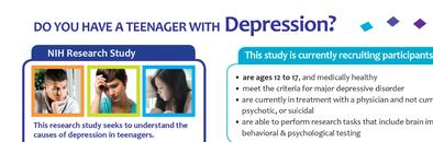 NIMH IRP Teen Depression Flyer
