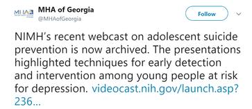 MHA Georgia Tweet