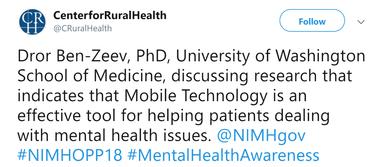 UND Center for Rural Health Tweet
