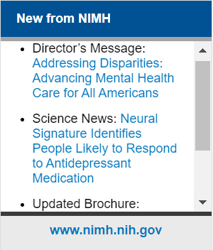 NIMH widget screenshot