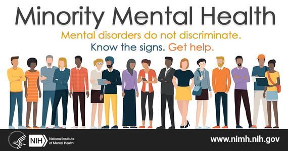 Minority Mental Health month graphic
