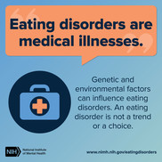 Eating disorders are medical illnesses