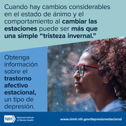Seasonal affective disorder message in Spanish