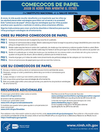 Spanish language instructions for making a stress catcher