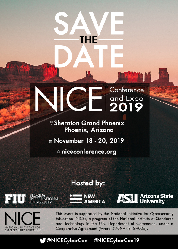 NICE Conference Save the date Flyer