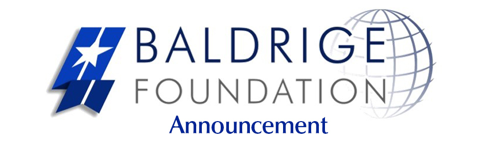 Baldrige Foundation Announcement