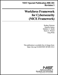 NIST SP 800-181r1 Cover Page