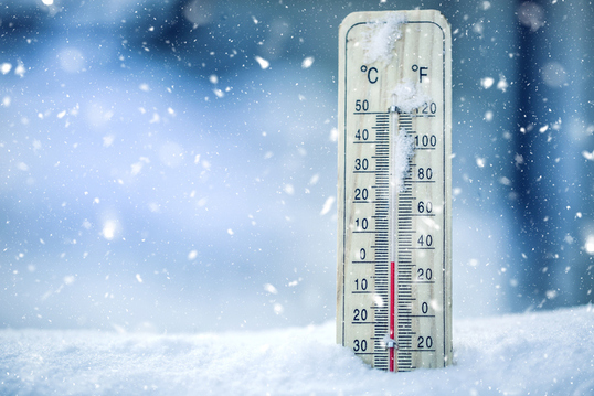 termometro registra bajas temperaturas