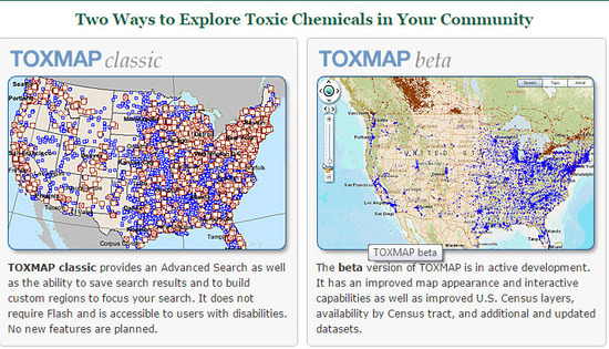 TOXMAP Classic and TOXMAP Beta