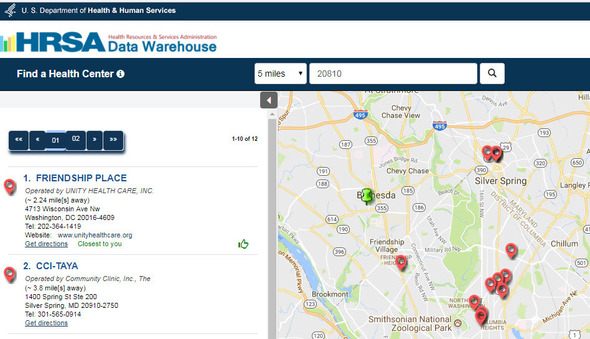 Search for local HRSA Health Centers by zip code.