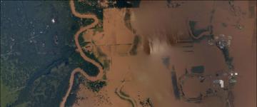 Flooding near Otey, TX