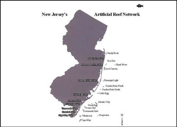 NJ artificial reefs