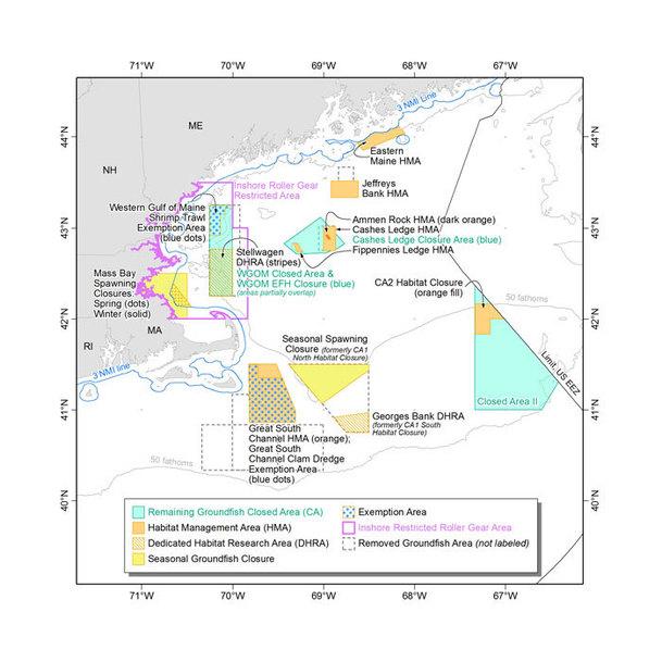Habitat Omnibus Amendment 2 Map