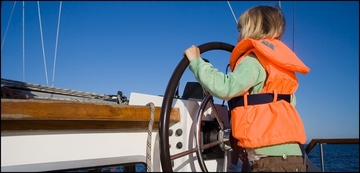 Boating safety stock photo