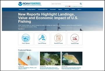 Fisheries Website screenshot