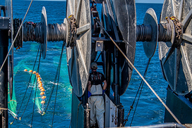 Twin trawl reels, F/V Karen Elizabeth, NOAA Fisheries