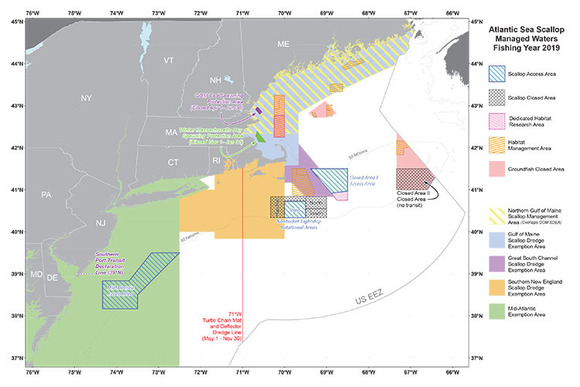 Scallop Areas Map 2019