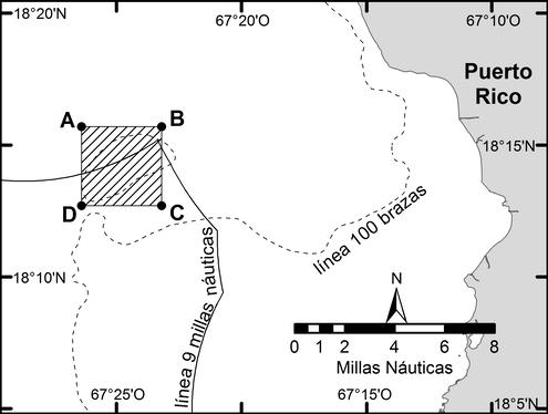 Location of Bajo de Sico management area off western Puerto Rico
