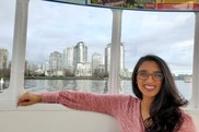 Veterinary medical officer Meghana Parikh on a ferry in Vancouver, British Columbia. NOAA Fisheries