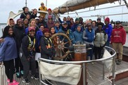 PEP students and ship's crew aboard the SSV Corwith Cramer in 2018.