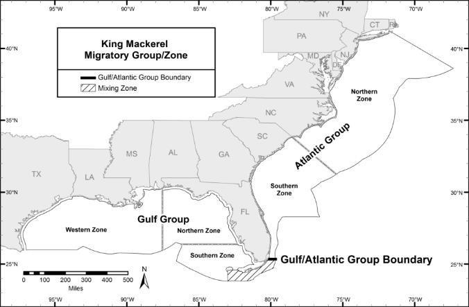 King mackerel zone map