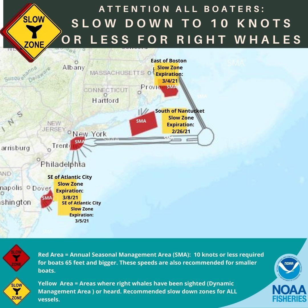 Southeast of Atlantic City slow zone