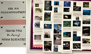 Ask an Oceanographer bulletin board at the Banner Academy in Arizona, NOAA Fisheries