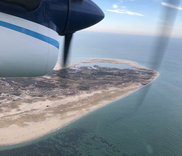 View of Muskeget Island, Massachusetts from the window of the Twin Otter. Photo: NOAA Fisheries