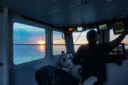 A calm sea and a spate of good weather on the Tenacious II. Credit: NOAA Fisheries
