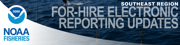 SE For-Hire Electronic Reporting Banner - Fishing Rods over water