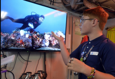Middle school students dive into the new year with a tour of NOAA ship Nancy Foster and Gray's Reef NMS