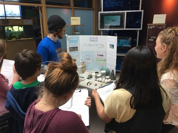 Students participating in the Student Watershed Symposium.